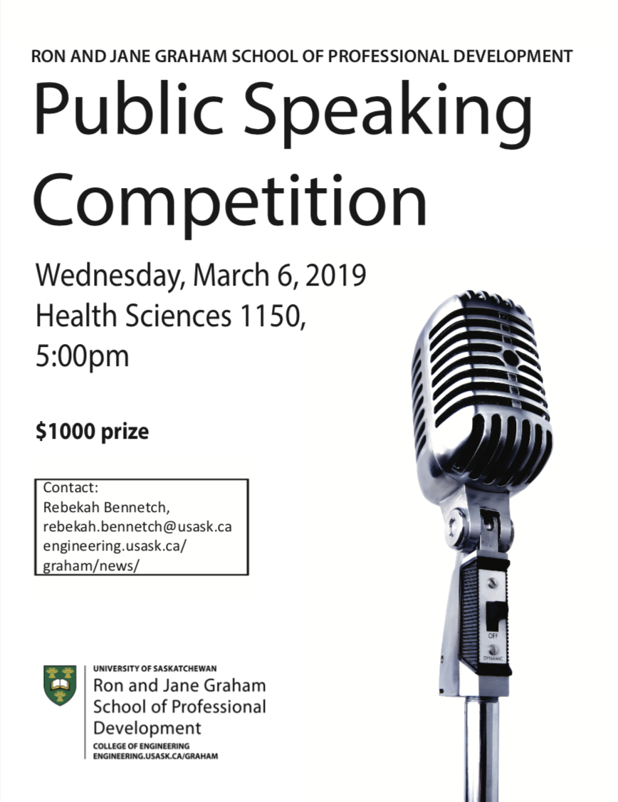 SOPD speech competition poster
