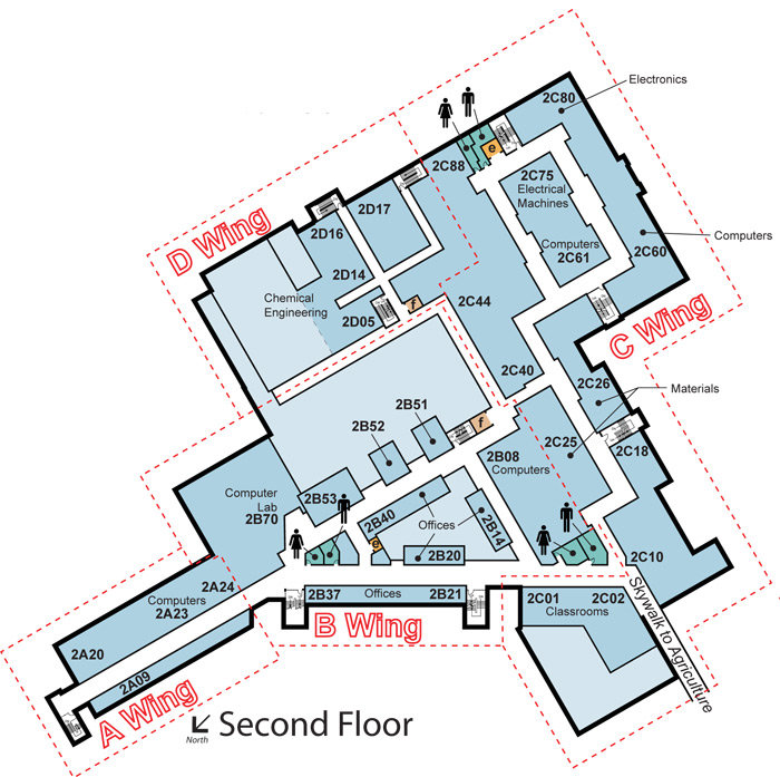 Second floor map