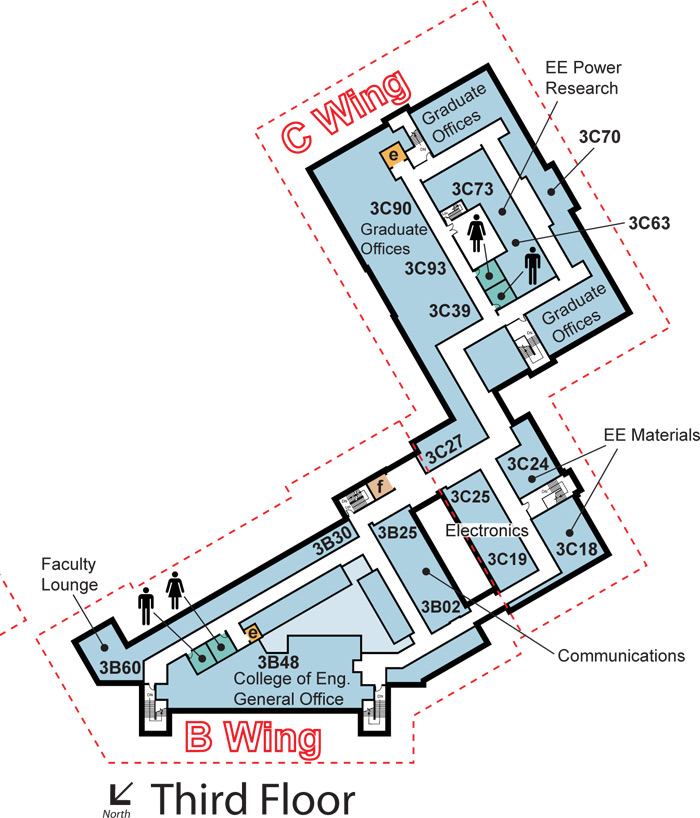 Third floor map